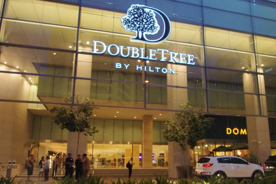 DoubleTree by Hilton Hotel Kuala Lumpur: The hotel entrance.
