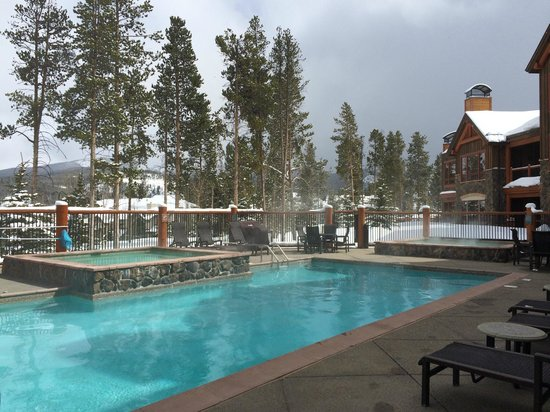 BlueSky Breckenridge: Pool and 2 of the 3 hot tubs
