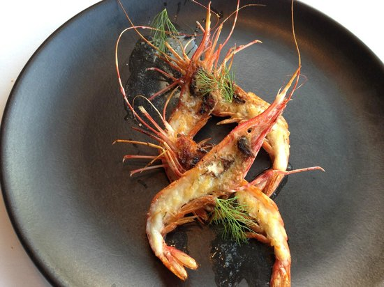 George's at the Cove : Sublime Grilled Spot Prawns