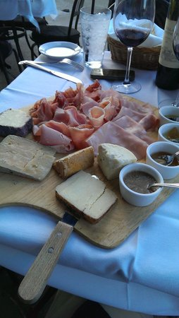 The Italian Barrel: cheese and charcuterie board. better than it looks, if thats possible