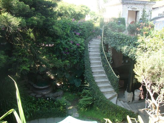 Meson Panza Verde : Stairs to Terrace