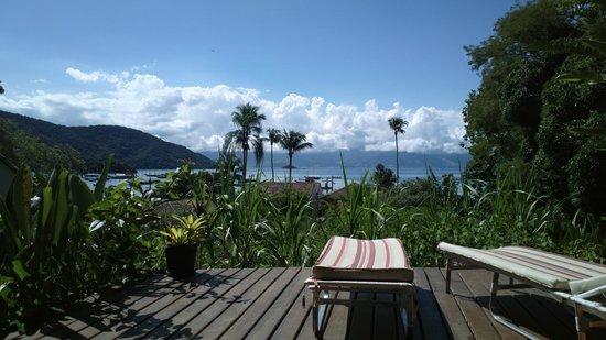 Pousada Tagomago Beach Lodge: Vista desde el deck del comedor