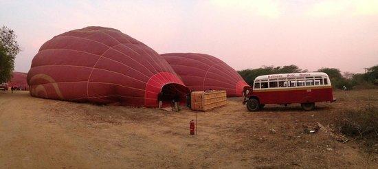 Balloons over Bagan: Preparatives