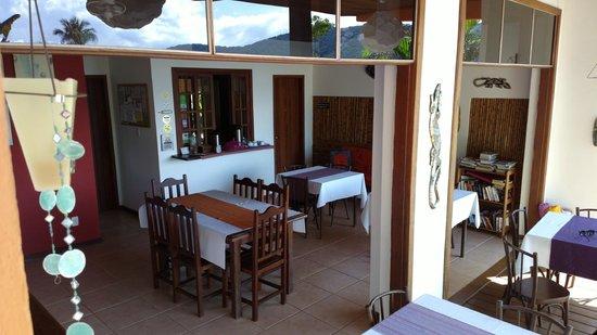Pousada Tagomago Beach Lodge: Instalaciones para el desayuno