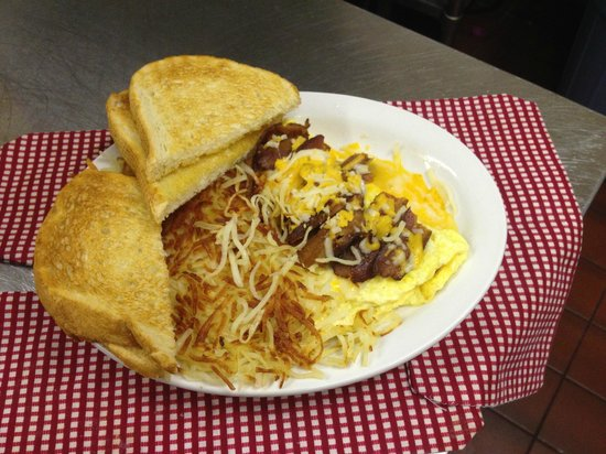Vic's Diner: bacon cheese omelette