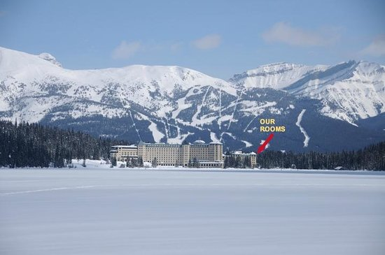Fairmont Chateau Lake Louise: To show you where our room was.