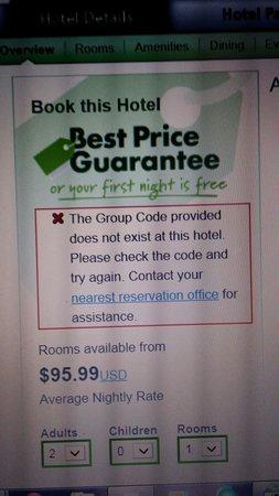 Radisson Hotel Tucson Airport : No discount