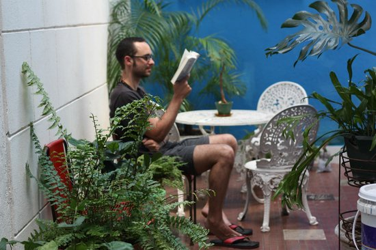 Casa Hilda y Alejandro: Reading in the patio