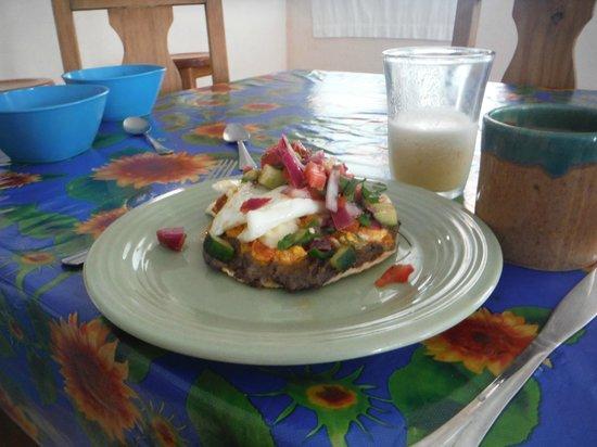 Coral Garden Inn : Huevos Rancheros a la Xcalak