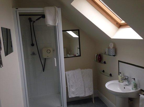 Holmebridge House: King room bathroom.