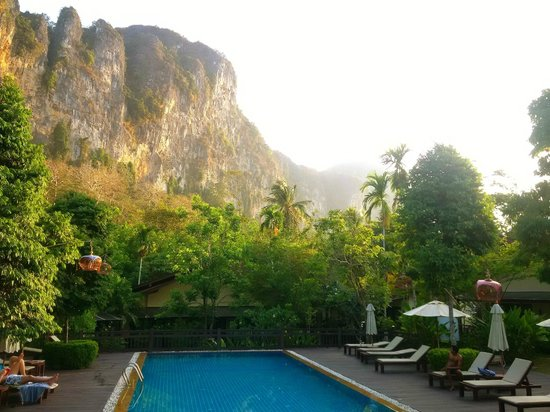 Aonang Phu Petra Resort, Krabi: View from pool deck