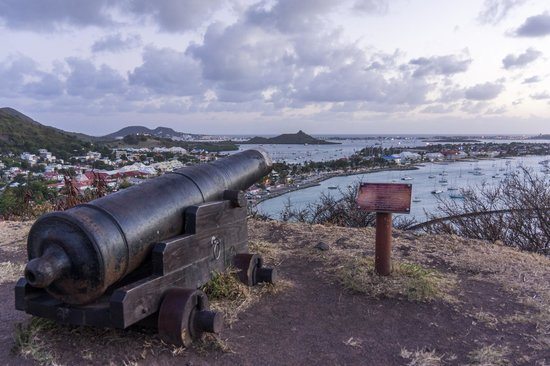 Fort Louis: View of Marigot