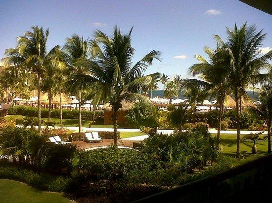 Dreams Riviera Cancun Resort & Spa: Vista hacia el jardín