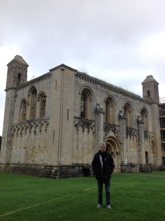 At the mythic Glastonbury Abbey in England