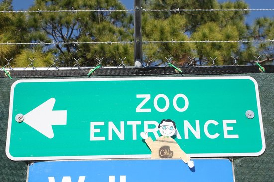 Doubletree Suites by Hilton Naples : A close trip to the zoo with Chip, the hotel's representative of their famous cookie.