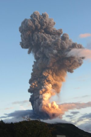 Tungurahua: There were several eruptions that spewed a 6-mile column of ash