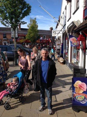Busy Henley Street in Stratford-upon-Avon in England