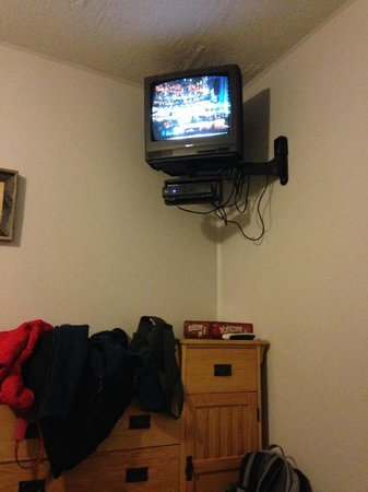 Woodland Villa Country Cabins: TV with one channel and static