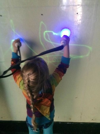Science Central: Loved the light-writing wall.