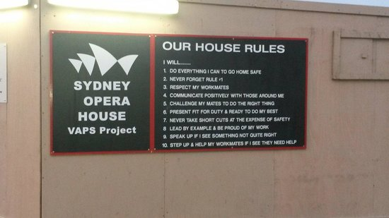Sydney Harbour: House rules