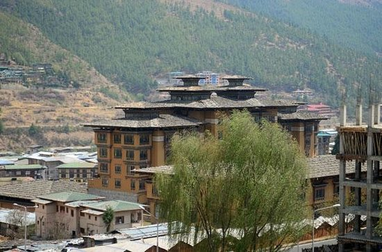 Bhutan Centennial Hotel : Taj Tashi Hotel - from balcony (room 301)