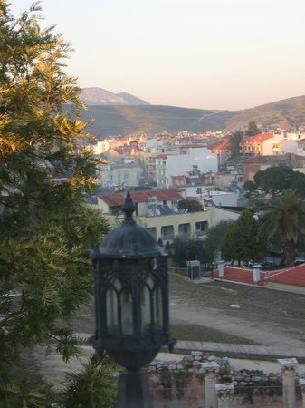 Hotel Bella: The town of Selçuk from Bella's rooftop terrace.