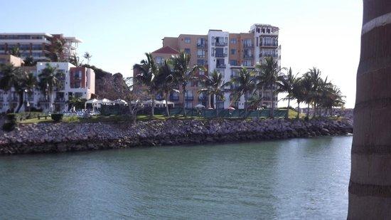 El Cid Marina Beach Hotel: View from boat to El Cid Marina Tower B