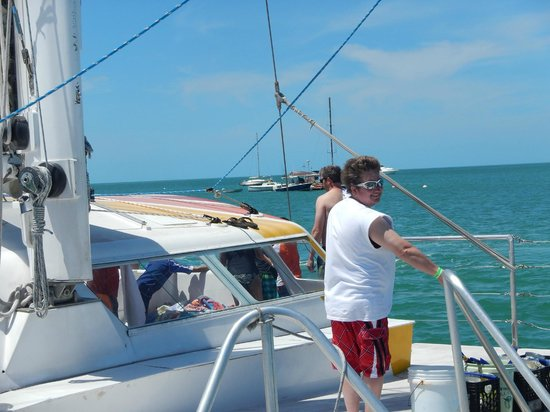 Sebago Key West: Hanging on the boat