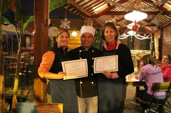 Hoian Culinary Center and BBQ garden: Certificates of competence