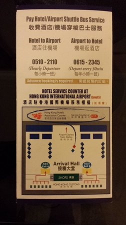 Metropark Park Hotel Kowloon: Shuttle bus counter at airport