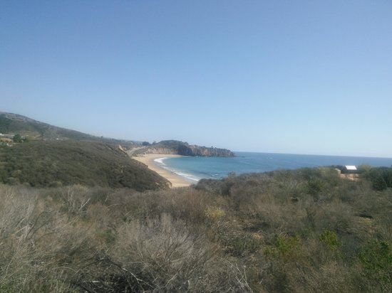 Crystal Cove State Park : View of the cove from parking area level