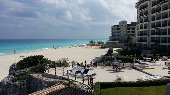 Grand Park Royal Cancun Caribe: From our suite balcony.