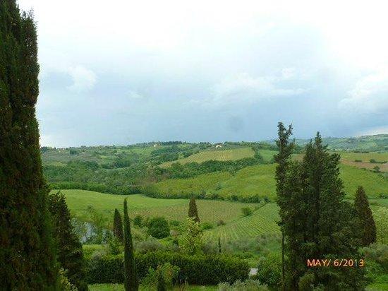 Castello di Montegufoni : VIEW FROM MY ROOM!!