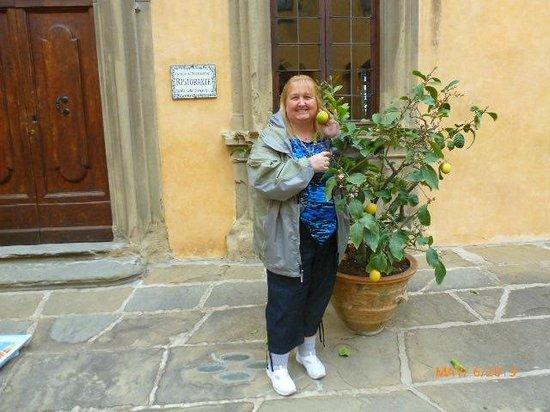 Castello di Montegufoni: COURTYARD WITH LEMON TREES!!