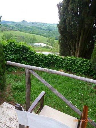 Castello di Montegufoni : VIEW FROM POOL AREA