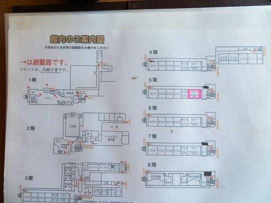 Kanpo-no-Yado Yaizu: 館内図