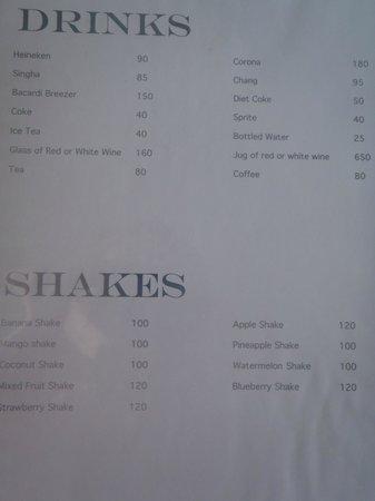 Aminjirah Resort: menu