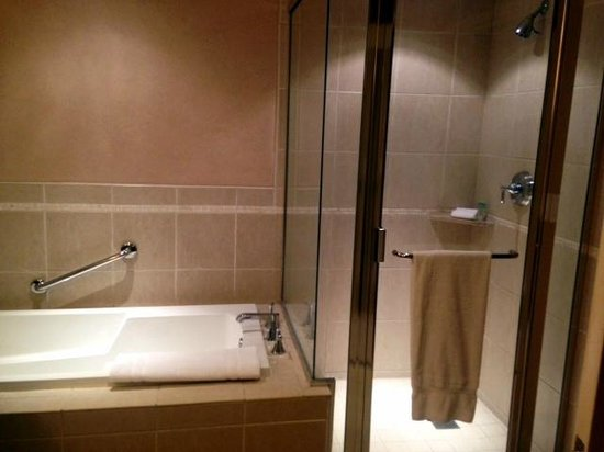 Pala Casino Resort and Spa : Tub and shower