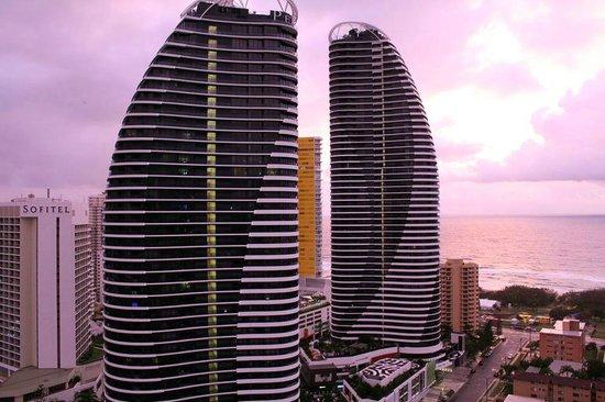 Meriton Serviced Apartments - Broadbeach: Our view at sunset