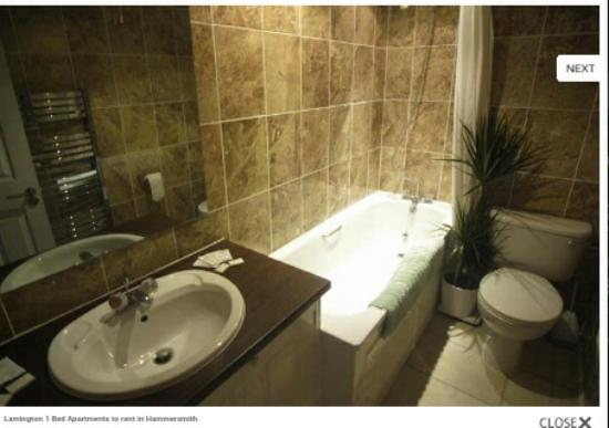 Lamington - Hammersmith Serviced Apartments: Photo of bathroom from their website