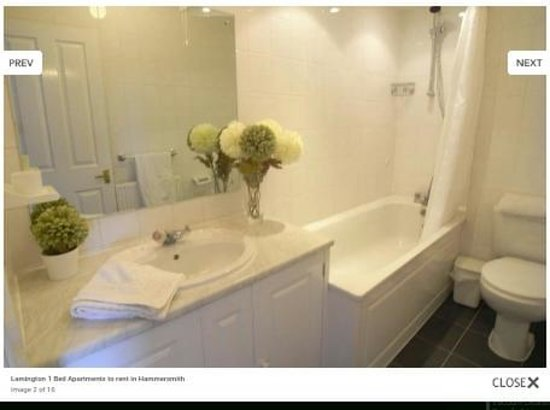 Lamington - Hammersmith Serviced Apartments: Another typical bathroom photo from their website - nothing like the one we had