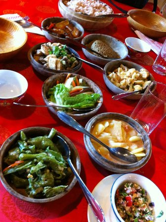 Folk Heritage Museum Restaurant : The set lunch spread
