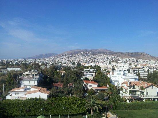 Athena, Divani Apollon Palace & Thalasso, Aussicht vom Balkon