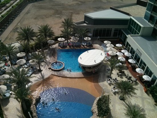 Yas Island Rotana: pool view from balcony