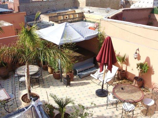 Riad Jona : outside terrace