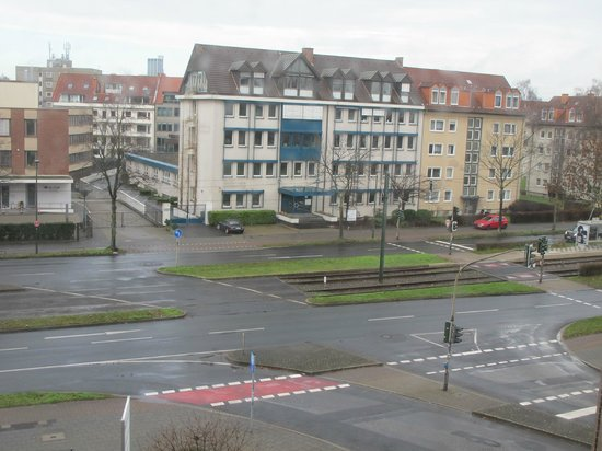 Auszeit Hotel Düsseldorf: Вид из номера на 4 этаже