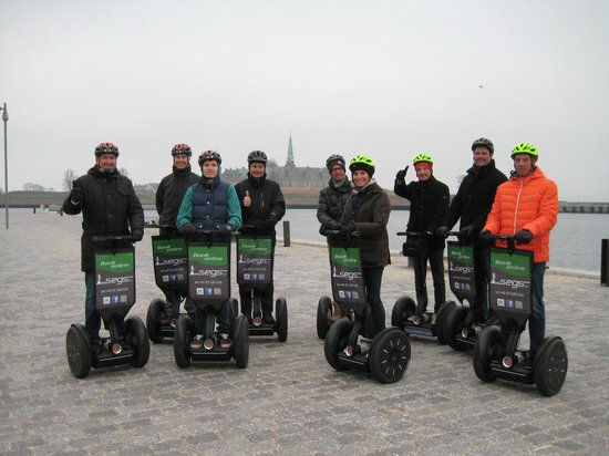 Segs - Segway Tours in Elsinore : Segway tour in Helsingør, Kronborg Castle in the background