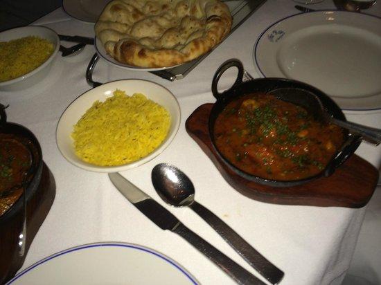 The Raj Tandoori: Prawn patia & pillao rice