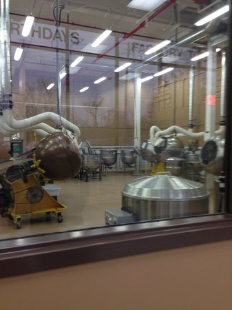 Chocolate FX: Typical view of chocolate production area from tour