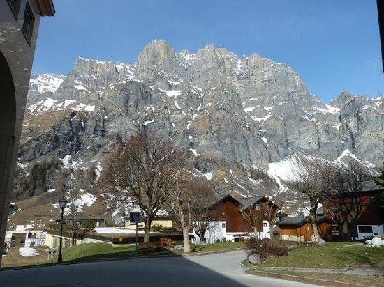 Hotel Les Sources des Alpes : Vue sur la montagne.